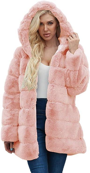 Fashion Women Cardigan Jacket Warm Faux Fur Winter Coat Overcoat