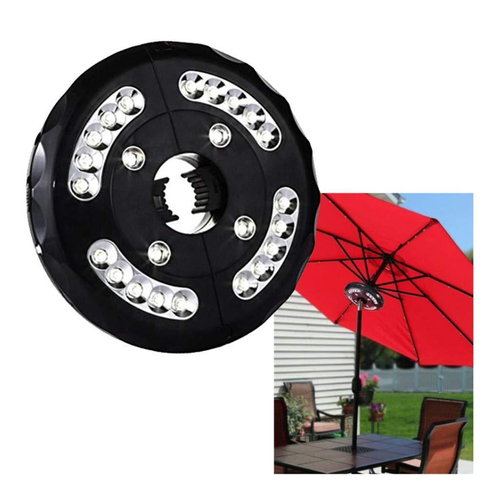 Umbrella Pole Lights 3 Lighting Modes Cordless 24 LED for Garden Backyard Outdoor Patio