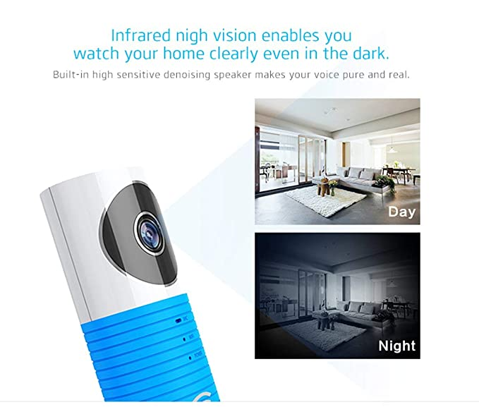 Amazon.com: WiFi IP Camera,House Security Cameras HD 720P WiFi Security Surveillance System with Wide Angle,Two-Way Audio Video with IR Night Vision ...