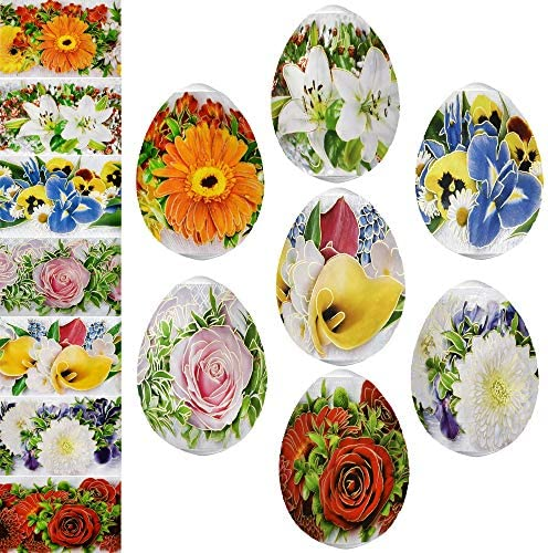 TG888 Blumen-Ostereierfolie, Thermo-Schrumpf-Aufkleber, Pysanka, Pysanky Sleeve Dekoration