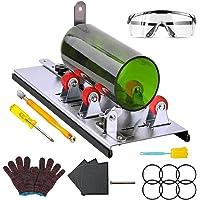 AmazeFan Glassnijder voor flessen, roestvrij staal, 5 verstelbare wielen, glassnijder, bottle cutter kit voor doe-het…