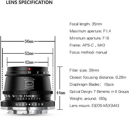 Ttartisan 35mm F1 4 Objektiv Mit Festem Fokus Für Fuji Kamera