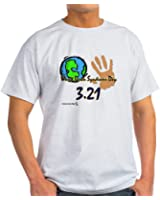 CafePress - World Down Syndrome Day Light T-Shirt - 100% Cotton T-Shirt, Crew Neck, Comfortable and Soft Classic Tee with Unique Design