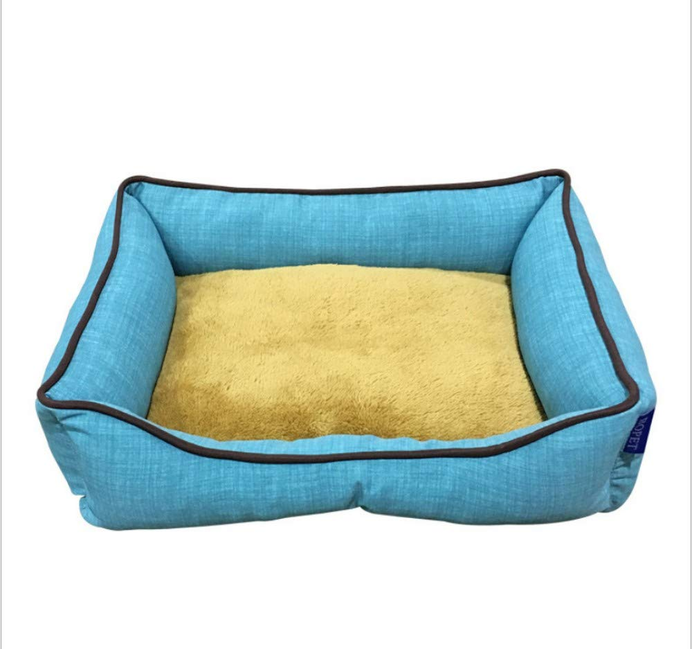 E 98X68X21CM E 98X68X21CM GZDXHN Dog House Four Seasons Universal Kennel Outdoor Two-Sided Flip Removable Kennel Waterproof Fabric Solid color Kennel Pet Nest Cat Nest P