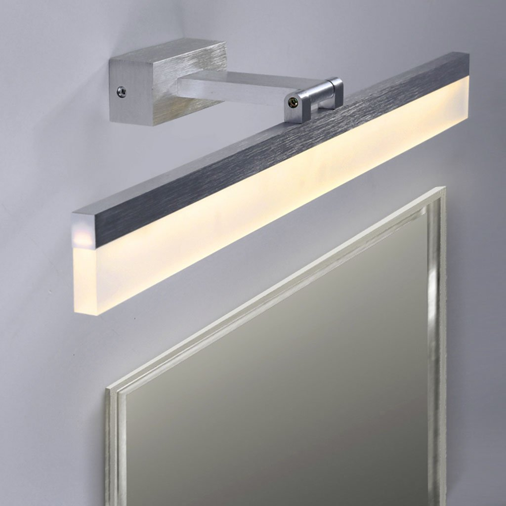 &Spiegelleuchte Spiegel-Frontlichter - einfache Spiegel-Lichter, Badezimmer-Verfassungs-Spiegel-Lichter - 180 ° drehende Lichter (Farbe   Warmes Licht-50cm 8w)