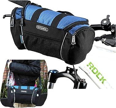 5L Bike Handlebar Bag Bicycle Front Tube Pocket Shoulder Pack Riding Cycling.