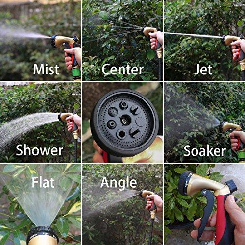 Spray Nozzle | Crenova HN-05 Garden Hose Nozzle Sprayer Gun - 7 Spraying Modes - Easy Flow Control Knob - Metal Nozzle High Pressure for Car Washing / Plant Watering / Sidewalk Cleaning / Pet Bathing