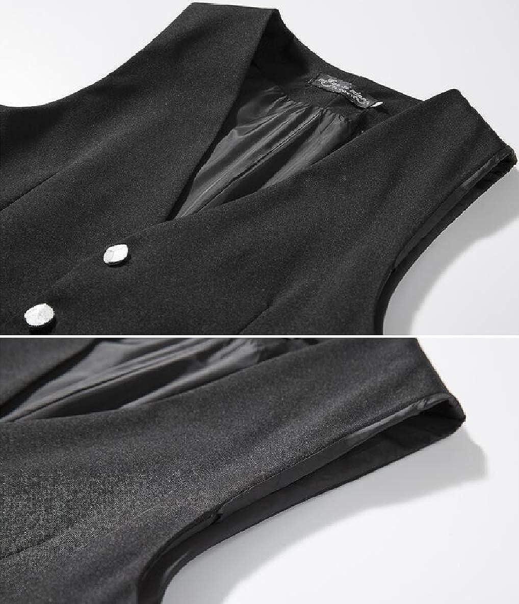 Winwinus Mens Business Lounge Oversize Skinny Button Outerwear Vest