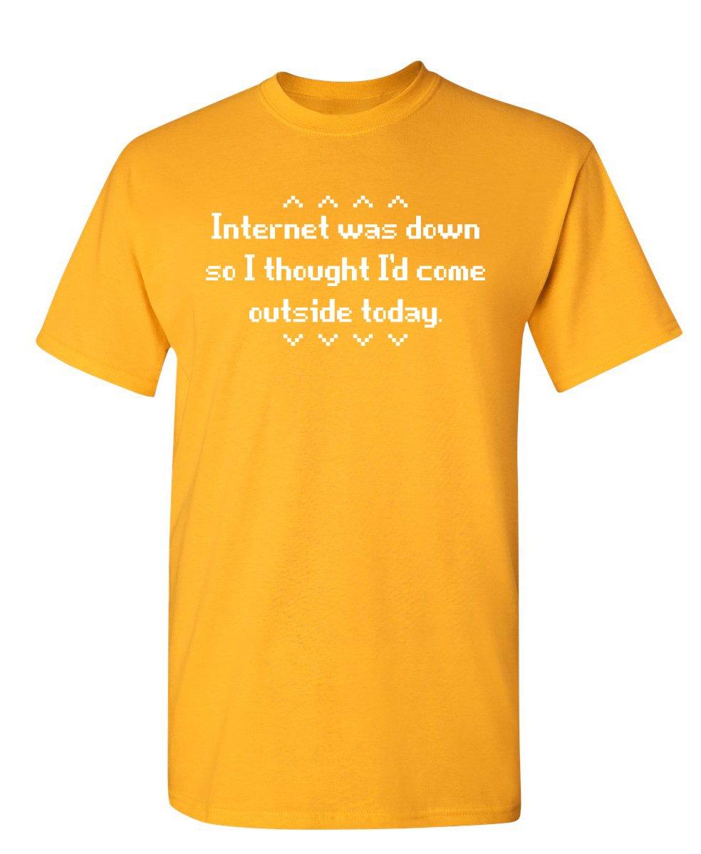 Internet Was Down Geek Nerd College Tech Gift Idea S Very Funny T Shirt 8978