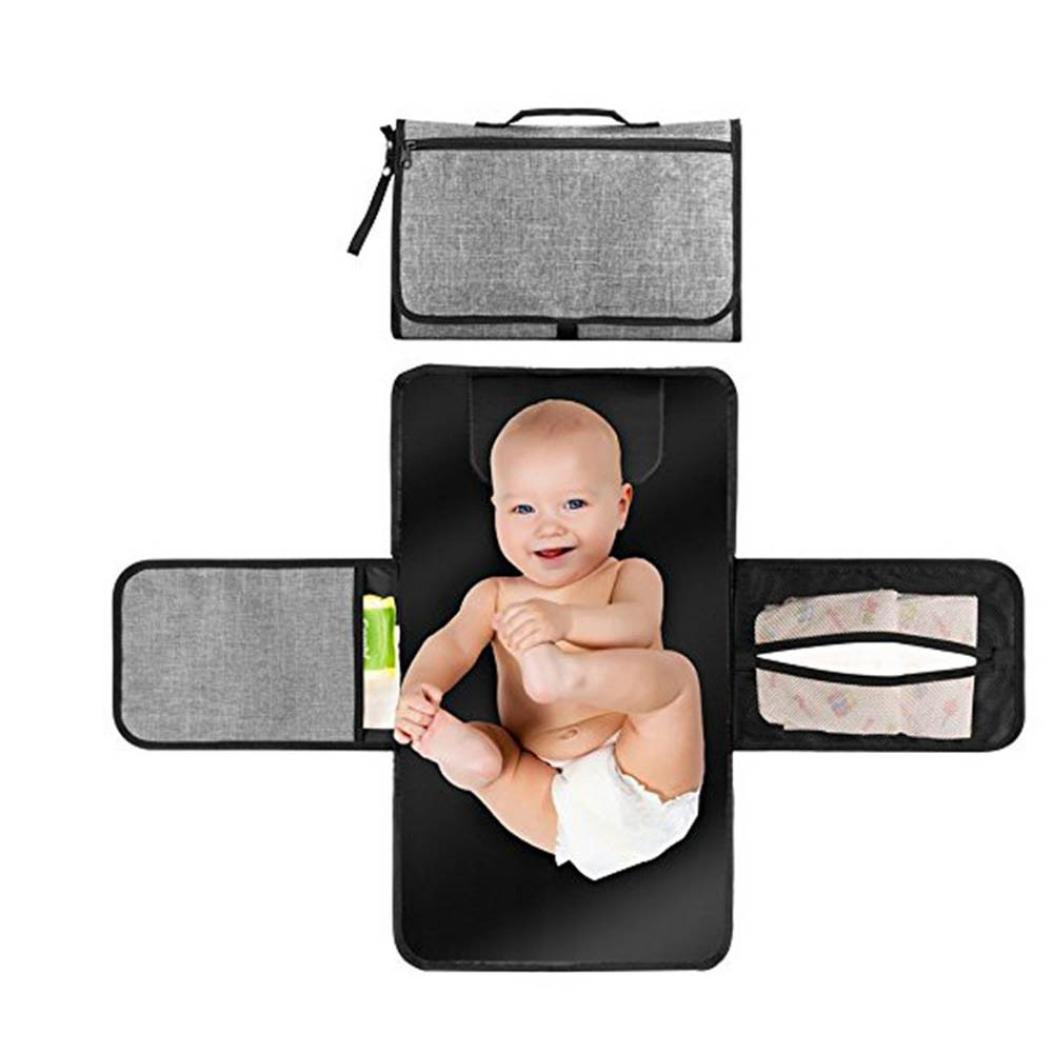 FeiliandaJJ Baby Nappy Changing Mats Waterproof Breathable Portable Diaper Baby Change Pads Kit for Baby Diapering Home Travel Outside