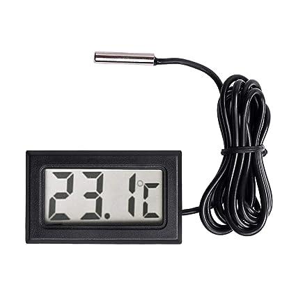 TOOGOO Termometro Digital LCD Calibre de Temperatura Sensor de sonda -50 Centigrados A + 110