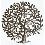 Metal Tree of Life Decor Haitian Metal Wall Art Wall Decoration Oil Drum Art 60cm