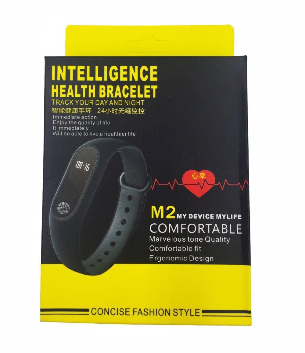 M2 Bluetooth Intelligence Health Smart Band Wrist Watch Monitor Bracelet Mi 2 Look Heart Rate Wristband Fitness Tracker Sports Outdoors