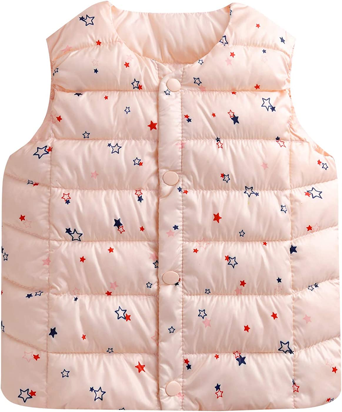 Happy Cherry Boys Quilted Packable Hoodie Lightweight Puffer Jacket Windproof Outwear Children Warm Duck Down Coat Pink