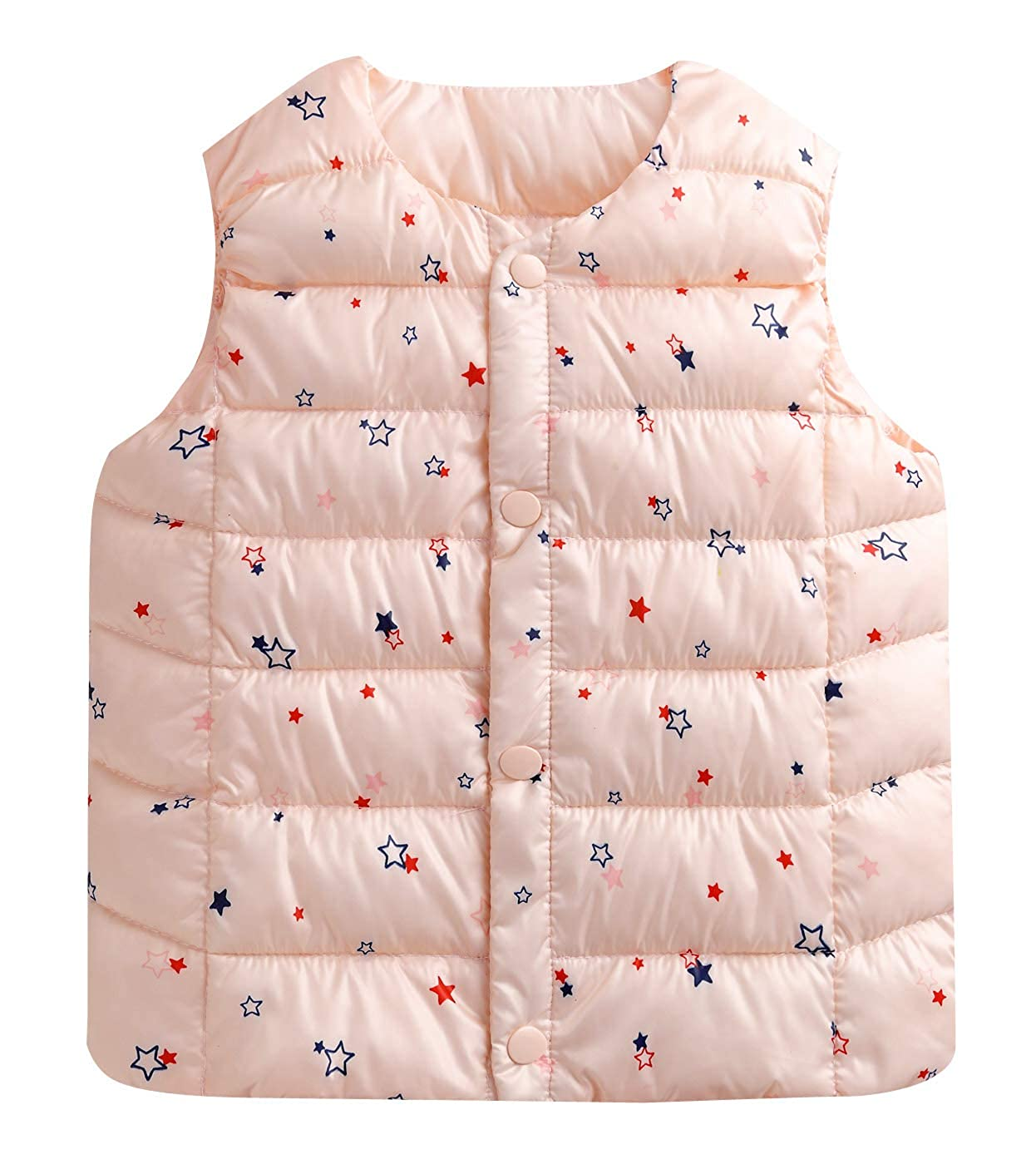 Happy Cherry Kids Down Jacket Vest Ultra Light Warm Children Winter Outwear Tops