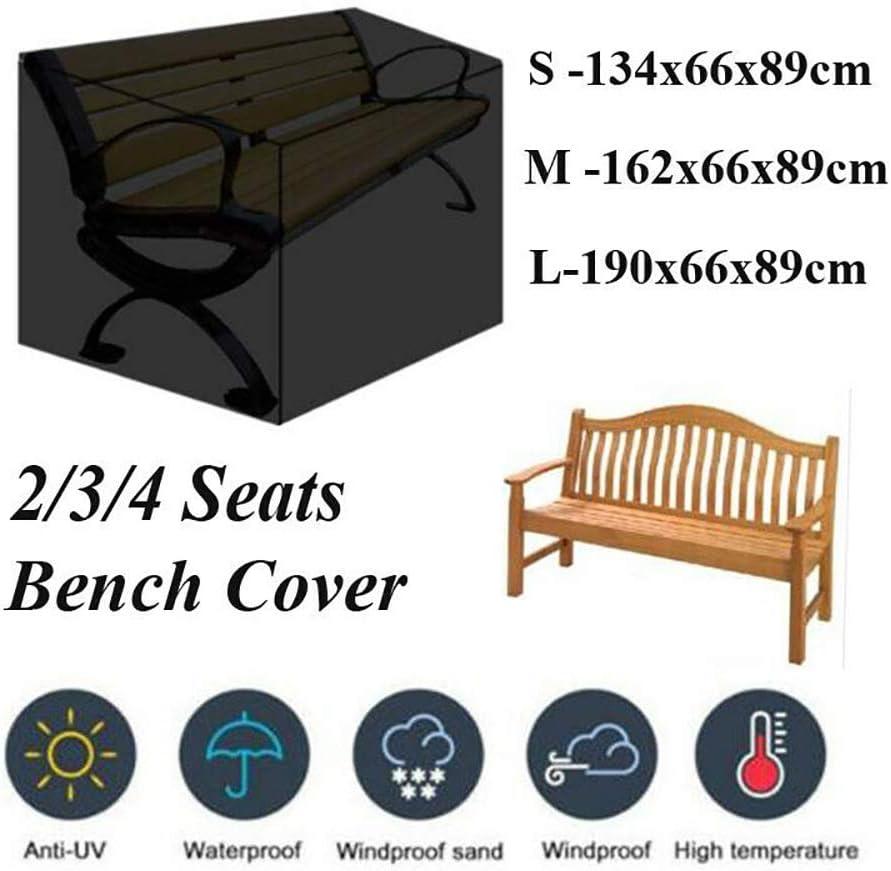 Resistente e Antivento Copertura per mobili da Cortile 3 Seats 163x66x89cm KDR Copertura per Panca da Esterno 4 posti Resistente agli Strappi Resistente ai Raggi UV