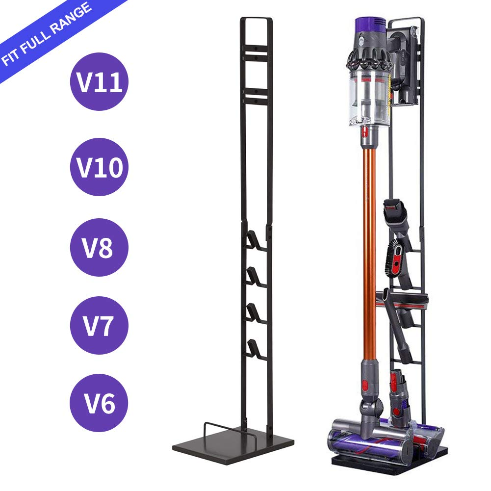 Slsy Accessory Organizer Holders Fit for Dyson V11, V10, V8, V7, V6, DC58, DC59 DC30 DC31 DC34 DC35 DC58 DC62 DC74 Vacuum, Portable Stable Stand, Metal Floor Holder Compatible with Handheld Vacuum by Slsy