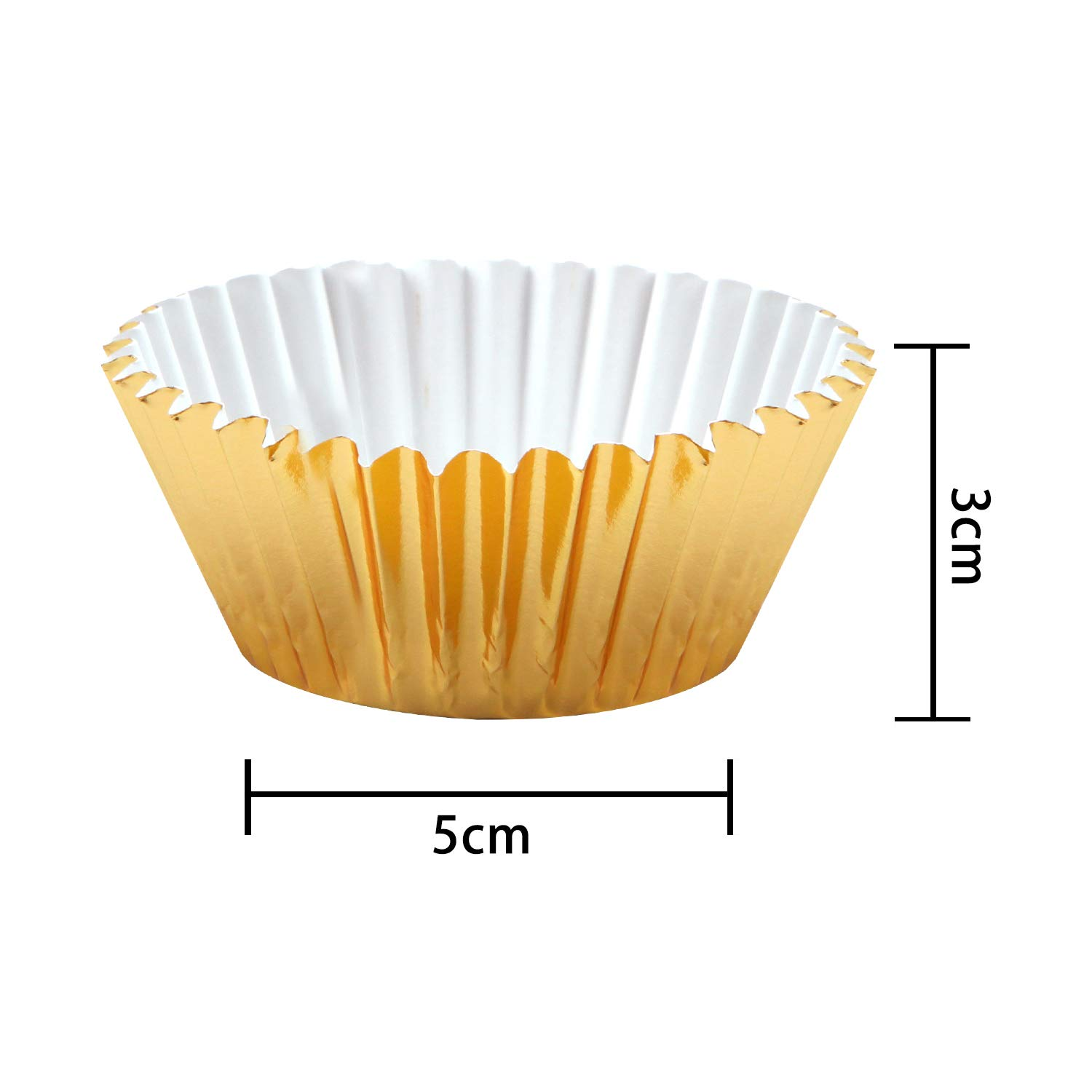 Sliver Silver and Rose Gold Elcoho 11 300 Pieces Foil Metallic Cupcake Liners Muffin Paper Cases Baking Cups