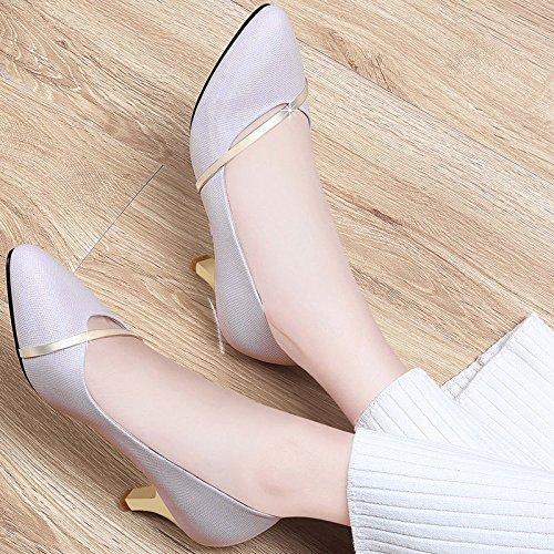 Women's Elegant Pointy Toe Pumps Slip On Kitten Heels For Dress Wedding Party Office Shoes Pink