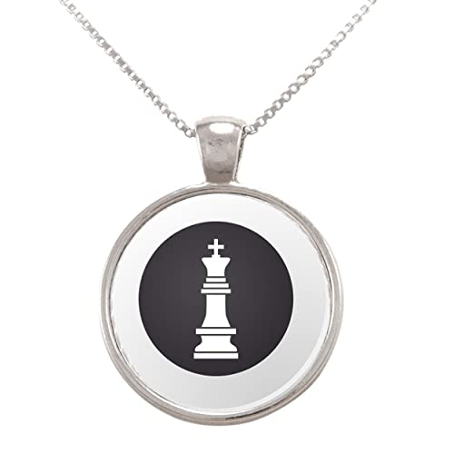 Vector Illustration of Chess Pieces - King Pendant Necklace