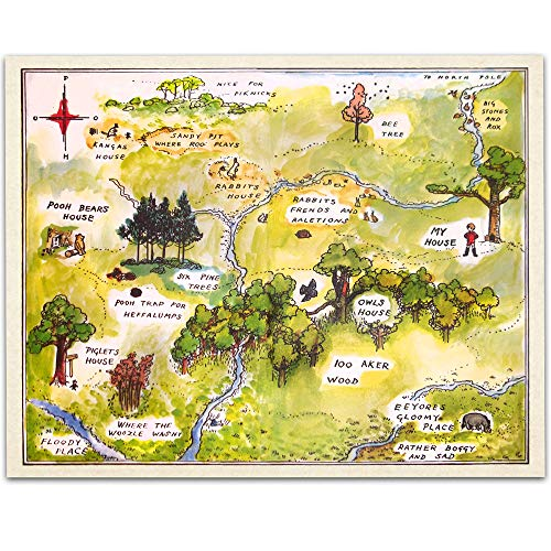 100 aker wood map - 1