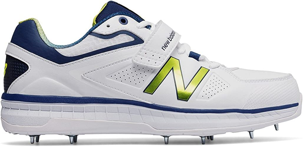 New Balance 2017 CK4040 N3 Bowling Cricket Shoes - White/Navy - UK ...