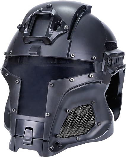 Amazon Com Tactical Military Ballistic Helmet Side Rail Nvg Shroud Transfer Base Army Combat Airsoft Paintball Full Face Mask Helmet Sports Outdoors
