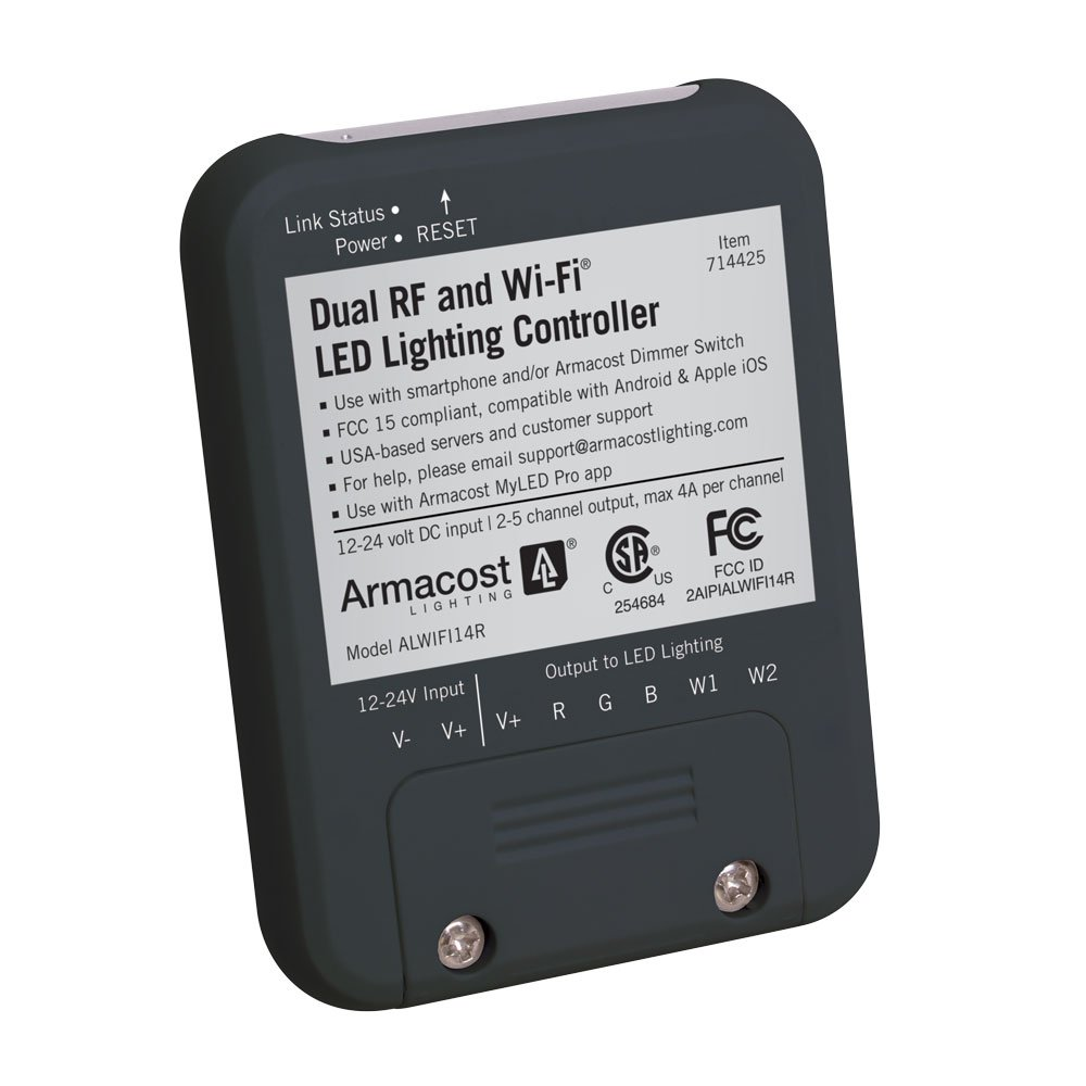 Armacost Lighting 714425 Dual RF Wi-Fi LED Controller, Black