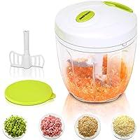 Sedhoom - Mini hachoir manuel 5lames 1 000ml - Hachoir de cuisine pour couper/hacher/broyer/mélanger les denrées alimentaires (fruits, légumes, viandes, oignons, salades, pistou)