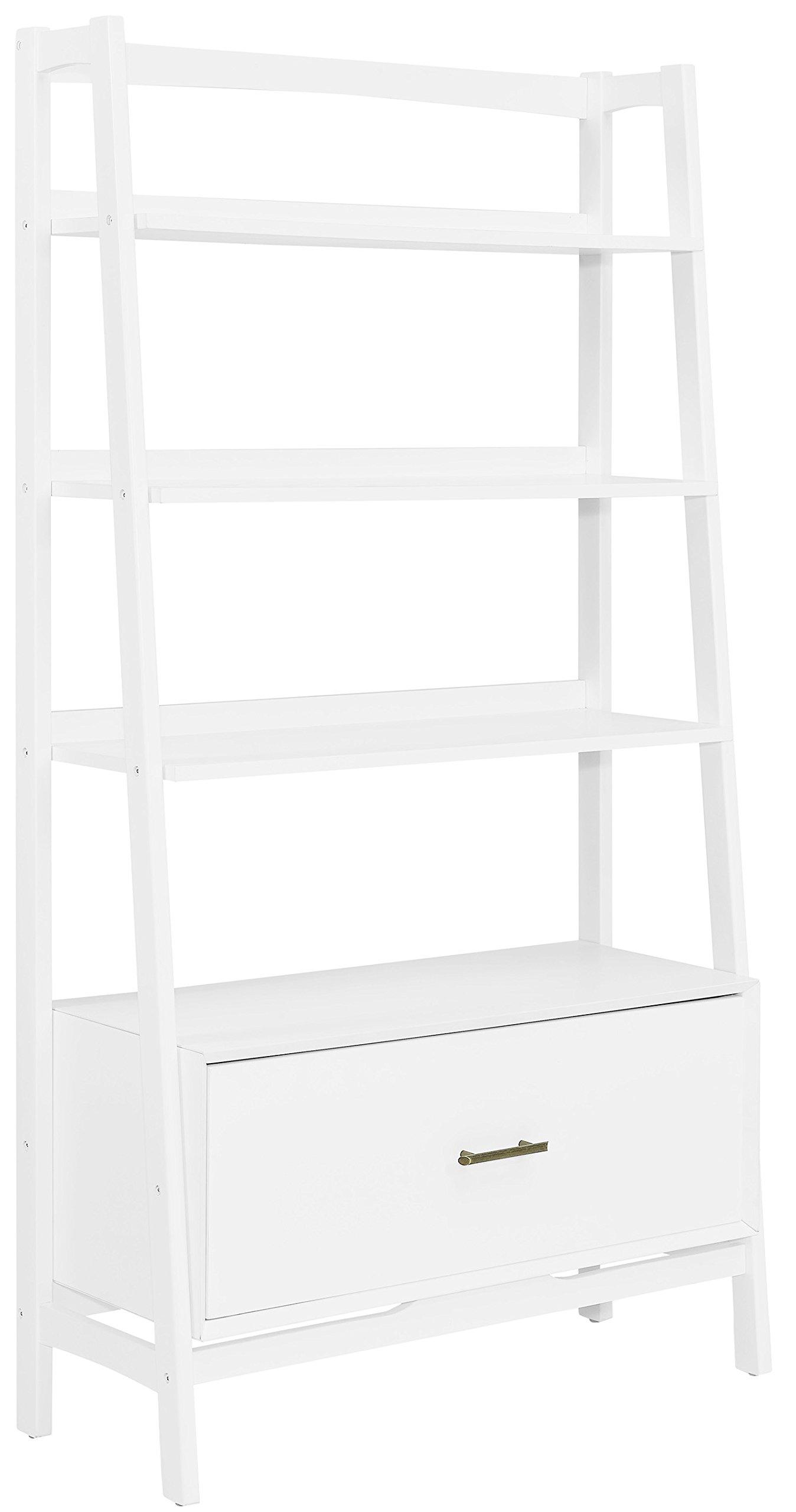Crosley Furniture Landon Large Etagere Bookcase - White by Crosley Furniture