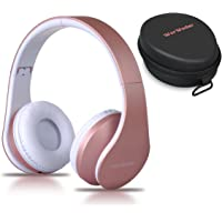 Wireless Bluetooth Headphones Over Ear Headset, Foldable Headphones Hi-Fi Stereo, Built-in Mic and Wired Mode for iPhone/PC/Cell Phones/TV by WorWoder