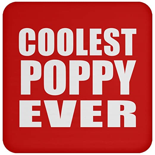 Coolest Poppy Ever - Drink Coaster Red Posavasos para ...