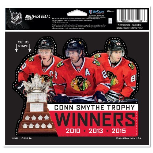 "Chicago Blackhawks 2015 Stanley Cup Champions 4.5"" x 5.75"" Decal - Multiple Players"