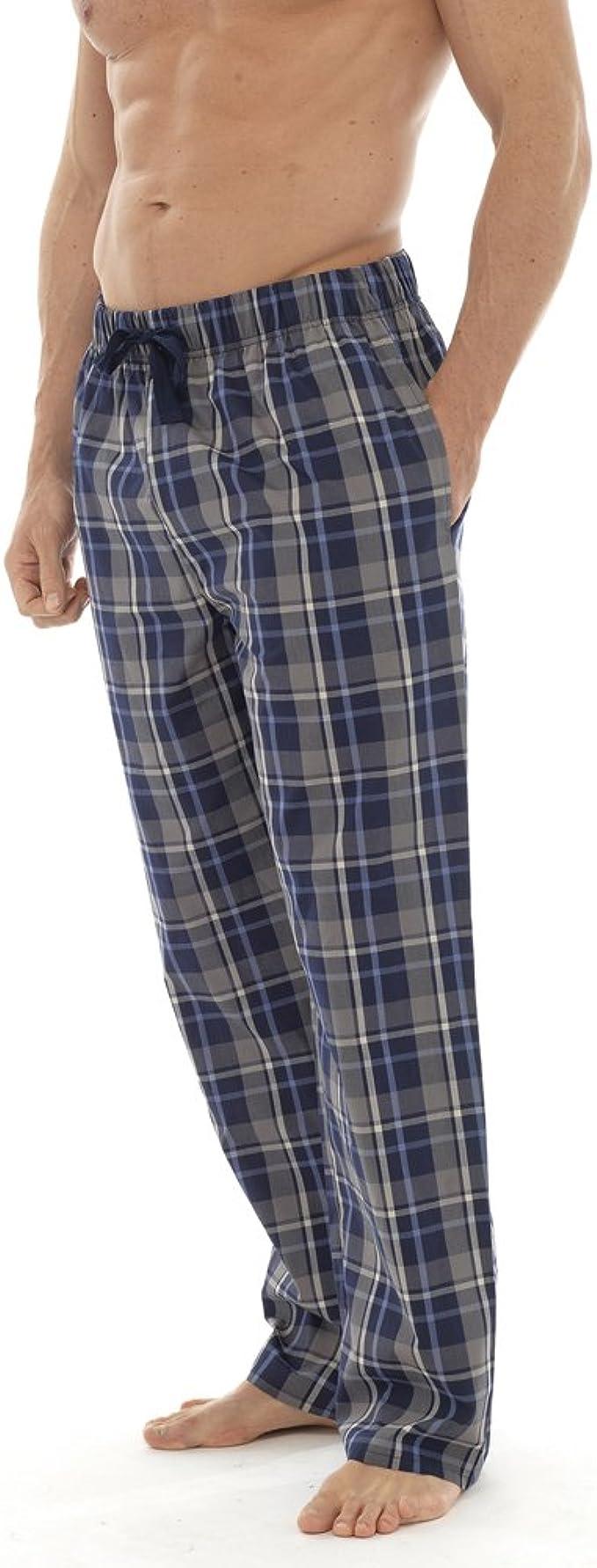 Clothing Unit Mens Lounge Pants Pyjamas with Pockets Bottoms