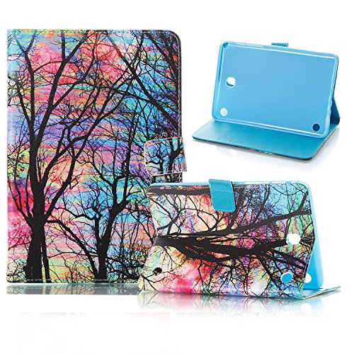 Galaxy Tab A 8.0 inch T350 Outdoor Life Stylish Case, Premium PU Leather Shockproof Flip folio Smart Shell with [Magnetic Closure] Cover for Samsung Galaxy Tab A 8.0 T350/P350, Oil Painting Tree (Reading Oil Painting)