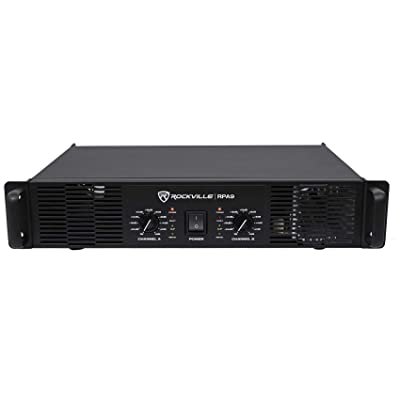 Rockville 3000 Watt Peak / 800w RMS 2 Channel Power Amplifier Pro/DJ Amp (RPA9): Musical Instruments