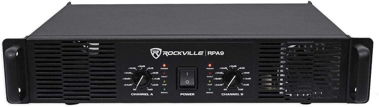 Rockville 3000 Watt Peak / 800w RMS 2 Channel Power Amplifier Pro/DJ Amp (RPA9)
