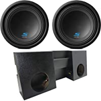 Compatible with 2007-2015 Jeep Wrangler JK Unlimited Alpine Type S S-W12D2 Dual 12 Rhino Coated Sub Box Enclosure Final 2 Ohm