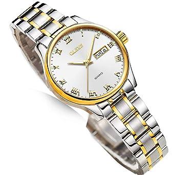 Amazon.com: Relojes para mujer de negocios, fecha del día ...