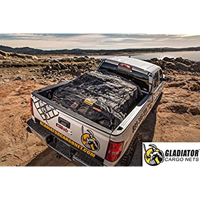 Gladiator Cargo Net - Heavy Duty Truck Cargo Net - Medium (MGN-100) 6.75' x 8' ft.: Automotive