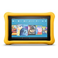 """Fire HD 8 Kids Edition Tablet, 8"""" Display, 32 GB, Yellow Kid-Proof Case (Previous Generation - 7th)"""