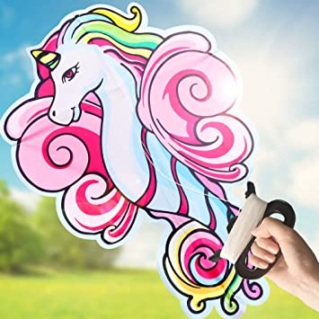 Amazon.com: LESONG cometa de unicornio para niños y adultos ...