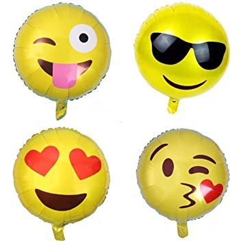 Sunshey 40pcs 18 QQ Expression Globo Emoji Aluminio Globo ...