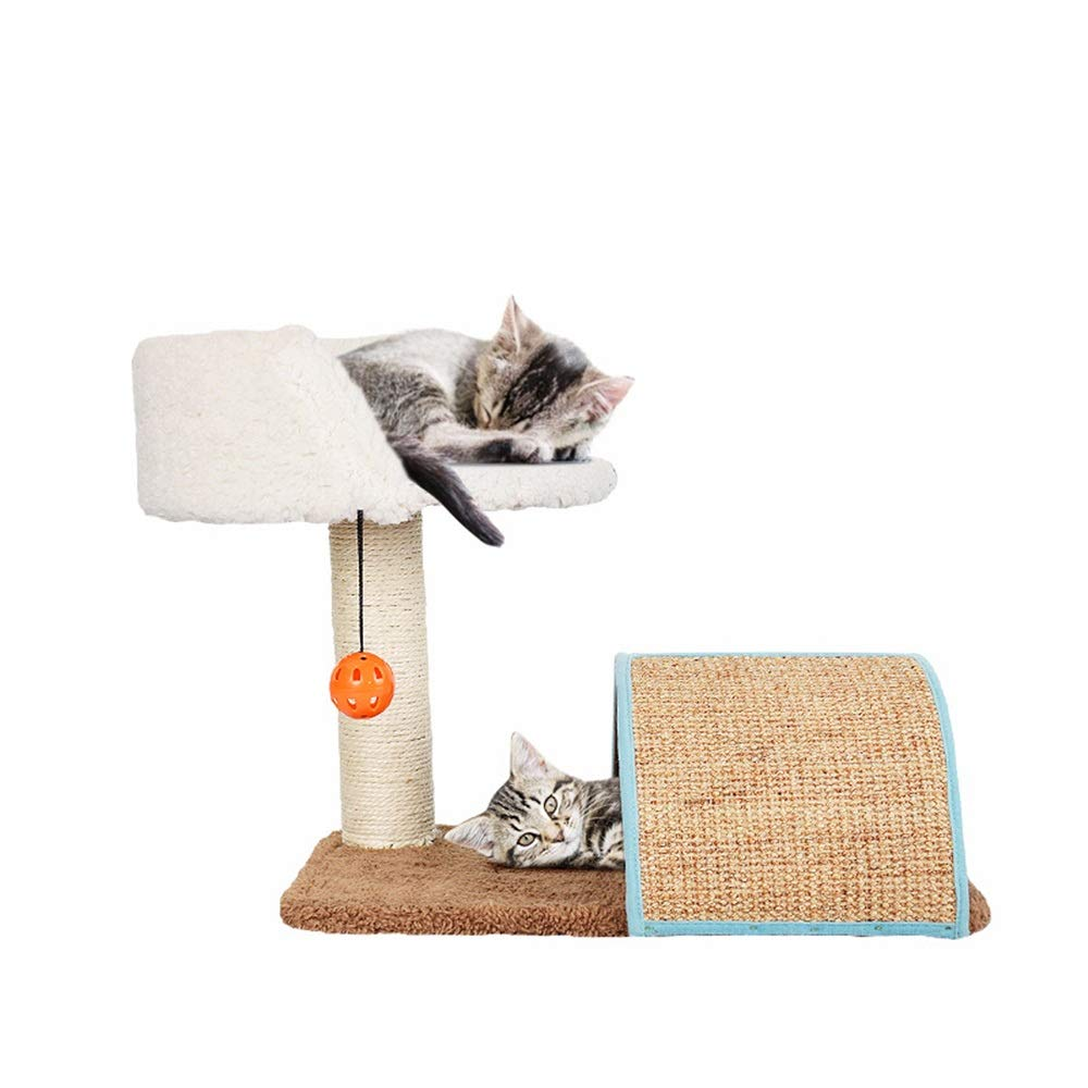 Pet Cat Kitty Kitten Climbing Tree Pet Toy Grinding Claw Arched Straw Mat Cat Litter Cat Grab Column Multifunctional Cat Climbing Frame. Activity Centre Bed House