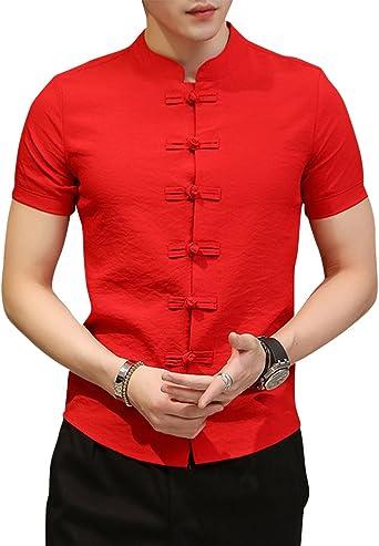 Suelto Camiseta Hombres Casual tee Cuello Redondo Tops Camisa Sandía roja 5XL: Amazon.es: Ropa y accesorios