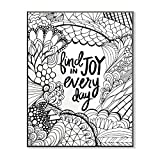 The Stupell Home Decor Collection Find Joy In Every Day DIY Coloring Wall Plaque