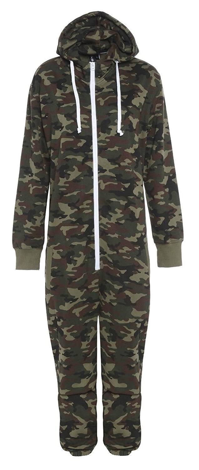 Fury Boys Girls Onesie Pyjamas Pajama All In One Camo Camouflage Combat Nightwear