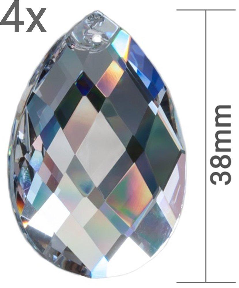 Cristallo Sole Acchiappasogni Set a rombi cristallo vetro goccia birndel 38mm da appendere come finestra gioielli & Fai da te Feng Shui 30% PbO cristallo al piombo Mobiles RIESER® Premium-Kristall