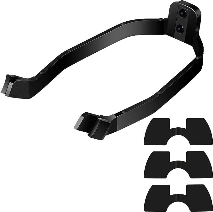 4 Piezas Accesorio de Repuesto de Scooter Incluye Soporte de Guardabarros Trasero de Guardabarros y 3 Piezas Amortiguadores de Vibraciones de Goma para Xiaomi M365/ M365 Scooter Profesional (Negro)