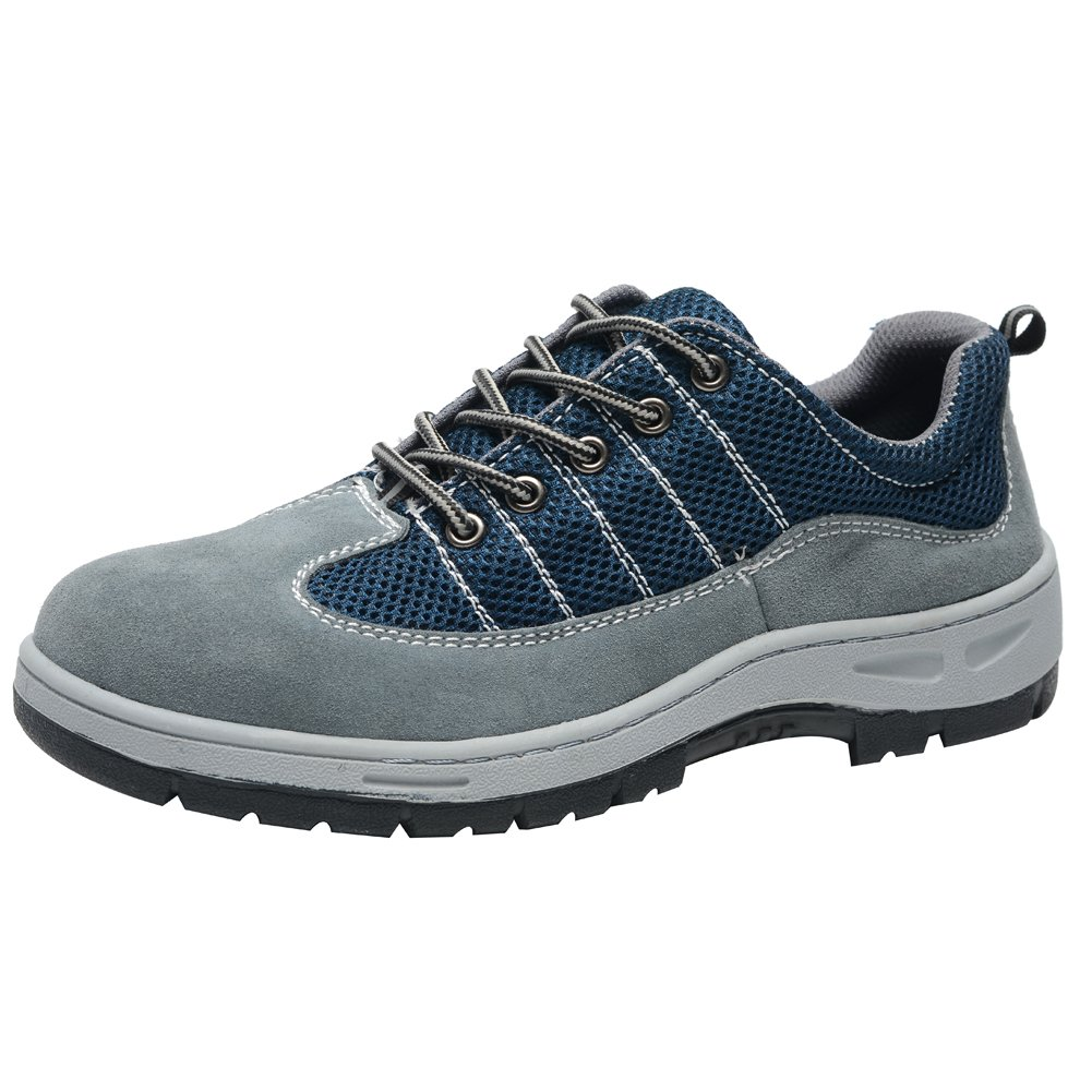 Eclimb Mens Safety Shoe Streamline Comp Steel Toe Slip Resistant Sneakers Gray